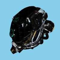 Damaged helmet rendered with XSeen